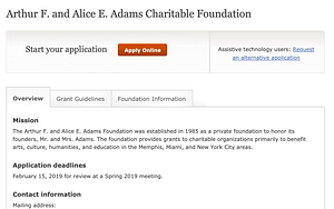 Arthur F. and Alice E. Adams Charitable Foundation